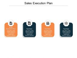 Sales Execution Plan Ppt Powerpoint Presentation Guidelines Cpb