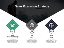 Sales Execution Strategy Ppt Powerpoint Presentation Inspiration Styles Cpb