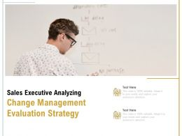 Sales Executive Analyzing Change Management Evaluation Strategy