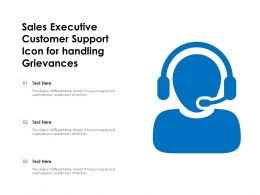 Sales Executive Customer Support Icon For Handling Grievances