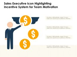 Sales Executive Icon Highlighting Incentive System For Team Motivation