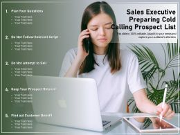 Sales Executive Preparing Cold Calling Prospect List