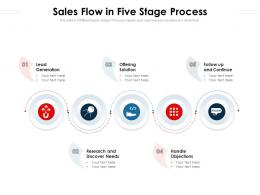 Sales Flow In Five Stage Process