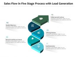 Sales Flow In Five Stage Process With Lead Generation