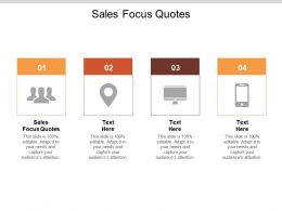 Sales Focus Quotes Ppt Powerpoint Presentation Model Deck Cpb