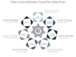 Sales Force Automation Powerpoint Slide Rules