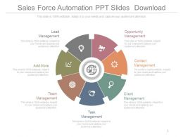Sales Force Automation Ppt Slides Download