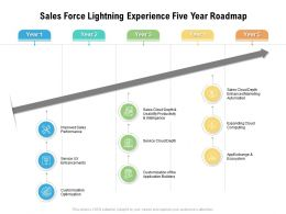 Sales Force Lightning Experience Five Year Roadmap