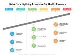 Sales Force Lightning Experience Six Months Roadmap