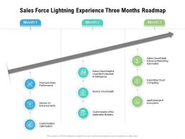 Sales Force Lightning Experience Three Months Roadmap