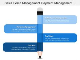 Sales Force Management Payment Management Resource Development Management