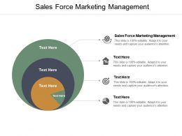 Sales Force Marketing Management Ppt Powerpoint Presentation Summary Show Cpb