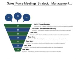 Sales Force Meetings Strategic Management Planning Human Resource