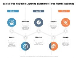 Sales Force Migration Lightning Experience Three Months Roadmap