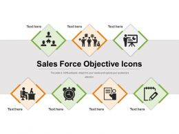 Sales Force Objective Icons Example Ppt Presentation