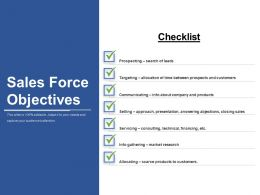 Sales Force Objectives Sample Ppt Presentation