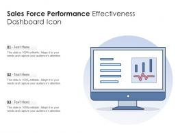 Sales Force Performance Effectiveness Dashboard Icon
