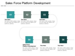 Sales Force Platform Development Ppt Powerpoint Presentation Layouts Show Cpb