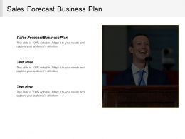 Sales Forecast Business Plan Ppt Powerpoint Presentation Model Graphics Download Cpb