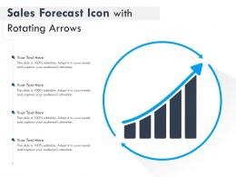 Sales Forecast Icon With Rotating Arrows