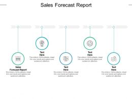 Sales Forecast Report Ppt Powerpoint Presentation Model Graphics Example Cpb