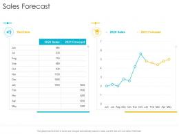 Sales Forecast Startup Company Strategy Ppt Powerpoint Presentation Microsoft