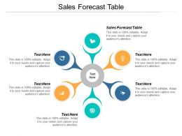 Sales Forecast Table Ppt Powerpoint Presentation Icon Example Topics Cpb
