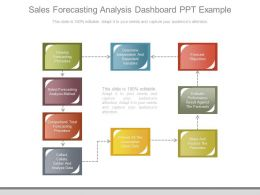 Sales Forecasting Analysis Dashboard Ppt Example