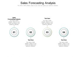 Sales Forecasting Analysis Ppt Powerpoint Presentation Gallery Deck Cpb