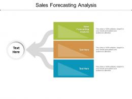Sales Forecasting Analysis Ppt Powerpoint Presentation Show Cpb