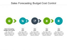 Sales Forecasting Budget Cost Control Ppt Powerpoint Presentation Guide Cpb