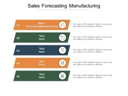 Sales Forecasting Manufacturing Ppt Powerpoint Presentation Visual Aids Example Cpb