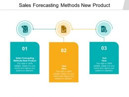 Sales Forecasting Methods New Product Ppt Powerpoint Presentation Pictures Cpb