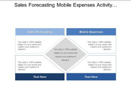 Sales Forecasting Mobile Expenses Activity Management Opportunity Predictive Analytics