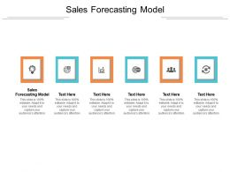 Sales Forecasting Model Ppt Powerpoint Presentation Outline Background Images Cpb