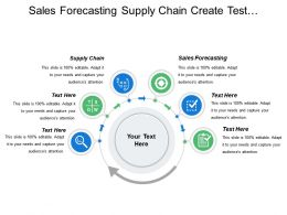 Sales Forecasting Supply Chain Create Test Design Strategy