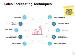 Sales Forecasting Techniques Market Test Ppt Powerpoint Presentation File