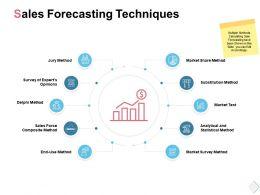 Sales Forecasting Techniques Market Test Ppt Powerpoint Presentation File
