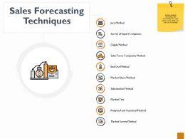 Sales Forecasting Techniques Ppt Powerpoint Presentation Outline Portfolio
