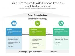 Sales Framework With People Process And Performance