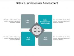 Sales Fundamentals Assessment Ppt Powerpoint Presentation Model Guide Cpb