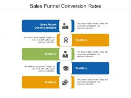 Sales Funnel Conversion Rates Ppt Powerpoint Presentation Slides Inspiration Cpb