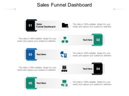 Sales Funnel Dashboard Ppt Powerpoint Presentation Show Cpb