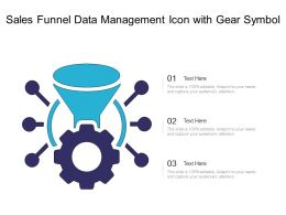 Sales Funnel Data Management Icon With Gear Symbol