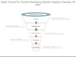 Sales Funnel For Tourism Marketing Sample Diagram Example Of Ppt