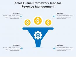 Sales Funnel Framework Icon For Revenue Management