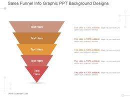 Sales Funnel Info Graphic Ppt Background Designs