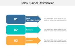 Sales Funnel Optimization Ppt Powerpoint Presentation Slides Graphics Pictures Cpb