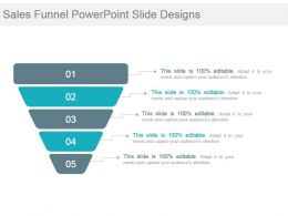 Sales Funnel Powerpoint Slide Designs