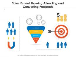 Sales Funnel Showing Attracting And Converting Prospects